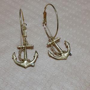 Anchor drop earrings